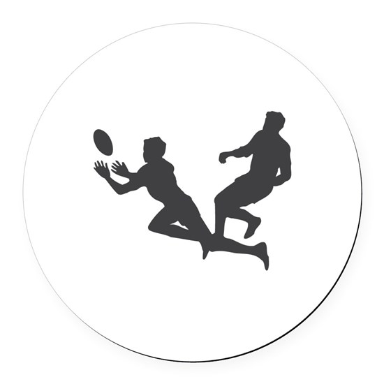 Rugby Football Round Car Magnet By ScooterBaby