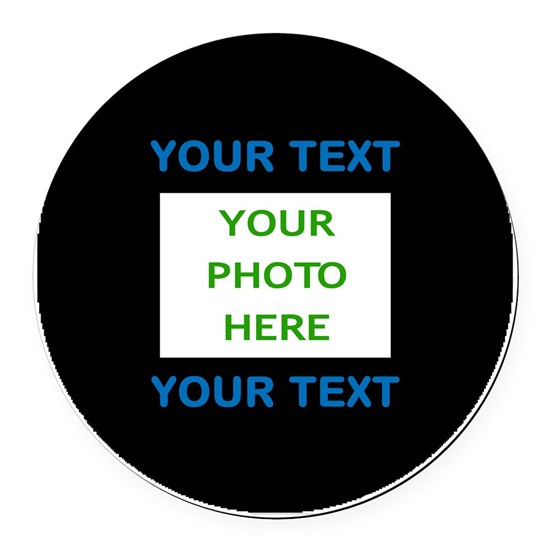 Your Text  Photo Here (Blue on Black)