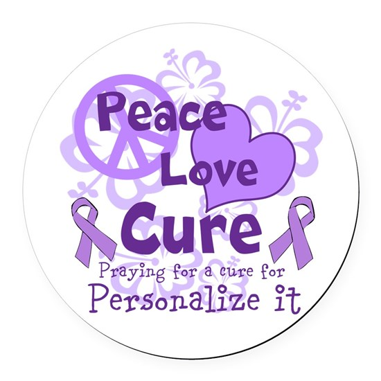 Purple Peace Love Cure