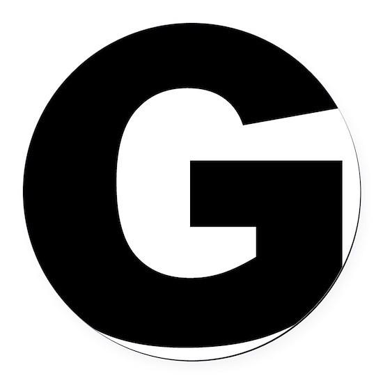 arial-black-black-g Round Car Magnet