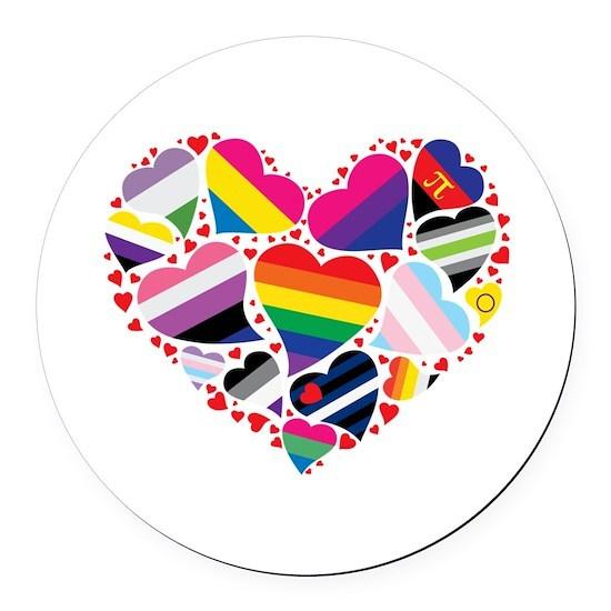 Pride Flag Heart - ALL PRIDE