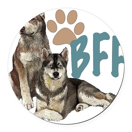 Siberian Husky BFF