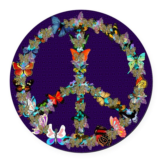 Butterfly Peace Sign Blanket 1