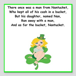 Man From Nantucket Square Car Magnets Cafepress