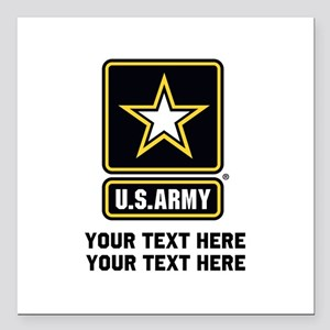 "US Army Star Square Car Magnet 3"" x 3"""
