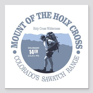 "Holy Cross (rd) Square Car Magnet 3"" x 3"""