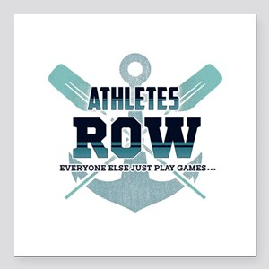 "Athletes Row Everyone El Square Car Magnet 3"" x 3"""