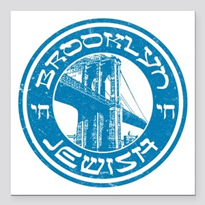 "Brooklyn New York Jewish Square Car Magnet 3"" x 3"""
