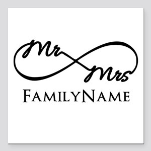 "Custom Infinity Mr. and Square Car Magnet 3"" x 3"""