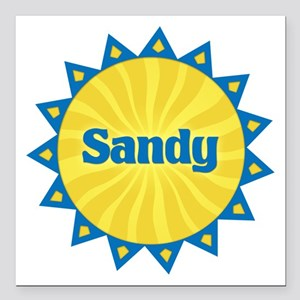 Sandy Sunburst Square Car Magnet