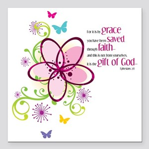 "by-grace Square Car Magnet 3"" x 3"""