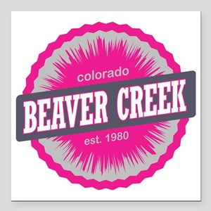 "Beaver Creek Ski Resort  Square Car Magnet 3"" x 3"""