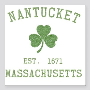 "nantucket-massachusetts- Square Car Magnet 3"" x 3"""