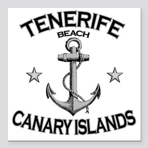 "TENERIFE BEACH CANARY IS Square Car Magnet 3"" x 3"""