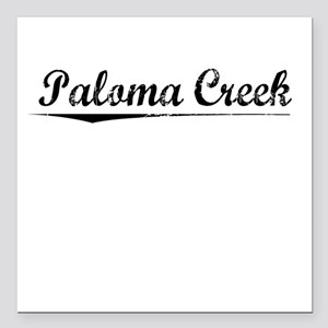 "Paloma Creek, Vintage Square Car Magnet 3"" x 3"""