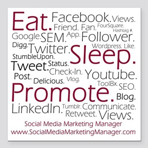 "Social Media Marketing M Square Car Magnet 3"" x 3"""