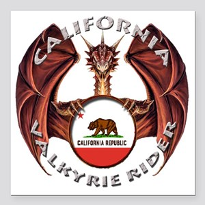 "california Square Car Magnet 3"" x 3"""