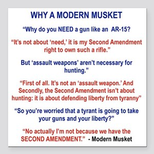 "THE MODERN MUSKET Square Car Magnet 3"" x 3"""