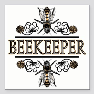 "2-beekeeper11 Square Car Magnet 3"" x 3"""