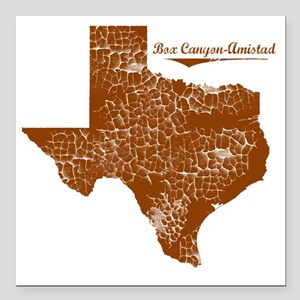 "Box Canyon-Amistad, Texa Square Car Magnet 3"" x 3"""