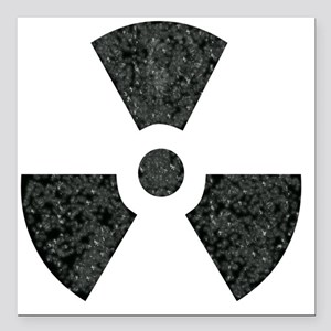 "Radioactive Square Car Magnet 3"" x 3"""