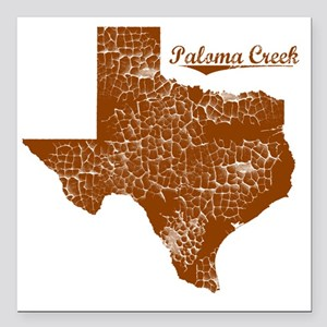 "Paloma Creek, Texas (Sea Square Car Magnet 3"" x 3"""