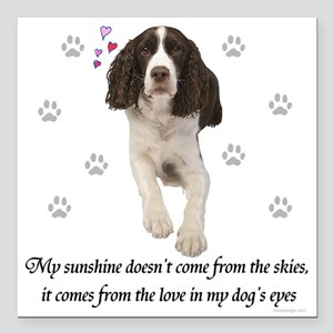 "English Springer Spaniel Square Car Magnet 3"" x 3"""