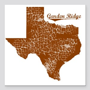 "Garden Ridge, Texas (Sea Square Car Magnet 3"" x 3"""