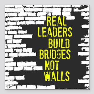 "Real Leaders Square Car Magnet 3"" x 3"""
