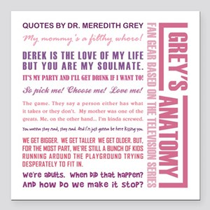 "QUOTES BY MEREDITH Square Car Magnet 3"" x 3"""