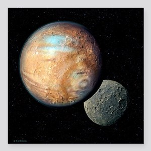 Pluto and Charon - Square Car Magnet 3