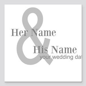 "Wedding Gift Square Car Magnet 3"" x 3"""