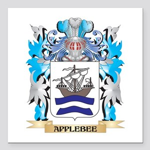 "Applebee Coat Of Arms Square Car Magnet 3"" x 3"""
