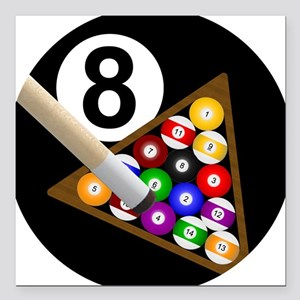 8 Ball Square Car Magnet