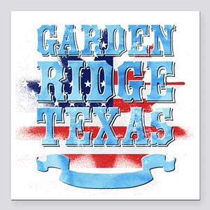 "Garden Ridge Texas Square Car Magnet 3"" x 3"""