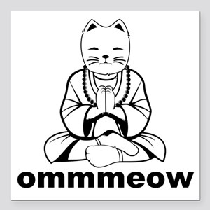 "Ommmeow Square Car Magnet 3"" x 3"""