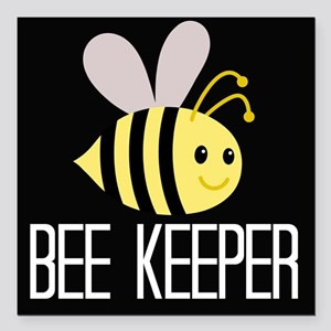 "Bee Keeper Square Car Magnet 3"" x 3"""