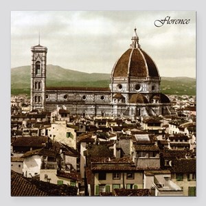 "Vintage Florence Cathedral Square Car Magnet 3"" x"