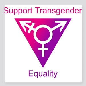 "Transgender Equality Square Car Magnet 3"" x 3"""