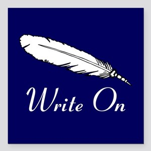 "Write On Square Car Magnet 3"" x 3"""