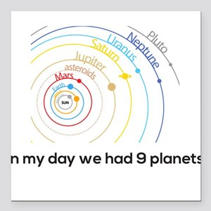 "9 planets Square Car Magnet 3"" x 3"""