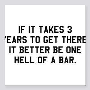 "Bar exam Square Car Magnet 3"" x 3"""