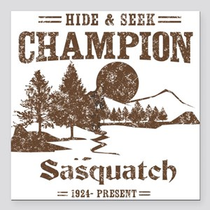 Hide & Seek Champion Sasquatch Square Car Magnet 3