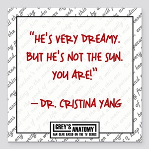 "HE'S NOT THE SUN Square Car Magnet 3"" x 3"""