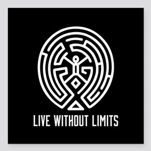 "Westworld Live Without L Square Car Magnet 3"" x 3"""