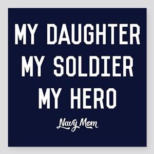 "U.S. Navy My Daughter My Square Car Magnet 3"" x 3"""