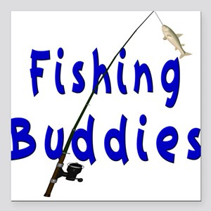 Fishing Buddies Square Car Magnet