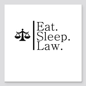 Eat. Sleep. Law. (Scales) Square Car Magnet