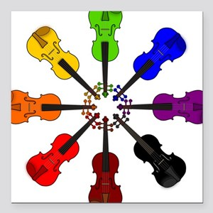 Circle of Violins Square Car Magnet