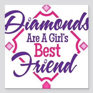 "Diamonds Square Car Magnet 3"" x 3"""